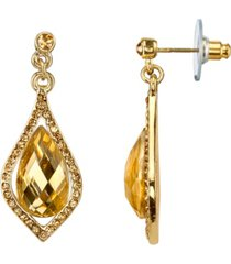 2028 gold-tone lt. colorado caged briolette drop earrings