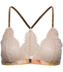 bra triangle nora w print lingerie bras & tops soft bras beige lindex