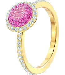 anillo no regrets, multicolor, baño de oro