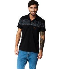 camiseta tipo polo-puntazul-negro-41448