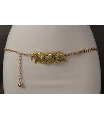 women fashion gold metal chains belt hip high waist african elephant xs s m xl