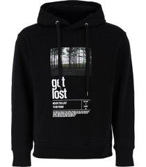 neil barrett printed hoodie