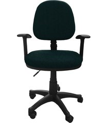 silla oficina lizza media verde con brazos  ref: 2009