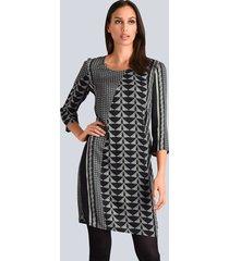 jurk alba moda grijs::zwart