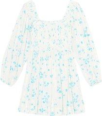 f5734 printed crepe mini dress