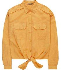 10 feet knotted boxy worker blouse mandarine