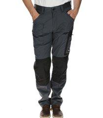 pantalón hombre essentials cargo trouser (w/stretch) poliéster gris cat