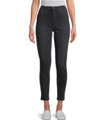 joe's jeans women's high-rise skinny ankle jeans - black - size 32 (10-12)