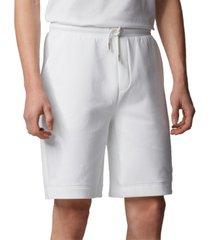 boss men's halboa open white shorts