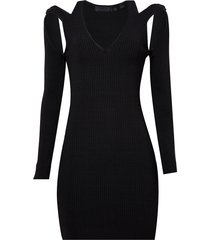 vestido john john girly curto tricot preto feminino (preto, gg)
