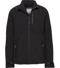 stretch softshell jacket tunn jacka svart superdry