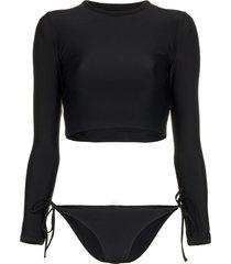 matteau the long sleeve sun tee bikini - black