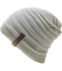 gorro de lana beanie stroke blanco flaw