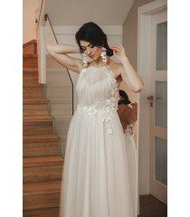 tiulowa suknia ślubna boho litera a luiza