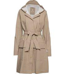 belt jacket outerwear rainwear rain coats beige rains
