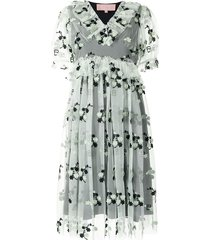 bapy by *a bathing ape® flower tulle dress - green