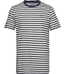 morris stripe tee t-shirts short-sleeved blå morris