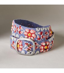women's sweet hibiscus wool belt