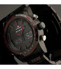 reloj hombre naviforce análogo digital acero inoxidable nf9024m
