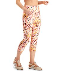 ideology performance printed cropped leggings, created for macy's