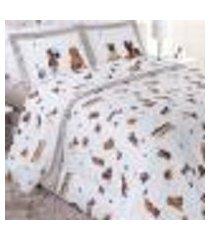 jogo de cama casal 200 fios vida bela filhotes