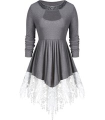 sequined cut out tunic t shirt
