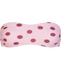 dolce & gabbana polka dot bikini bandeau top - pink