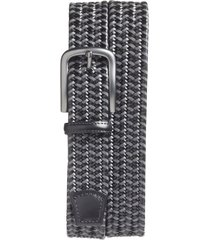 men's big & tall torino woven belt, size 46 - black/ grey