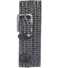 men's big & tall torino woven belt, size 46 - black/ grey