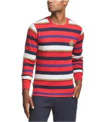 men's stripe waffle knit sleep shirt