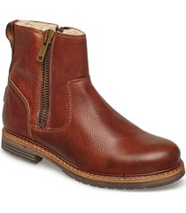 joss high zip w shoes boots ankle boots ankle boot - flat brun björn borg