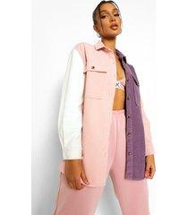corduroy colour block spijkerblouse, lilac