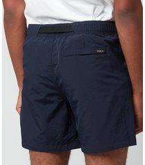 polo ralph lauren men's nylon climbing shorts - aviator navy - xl