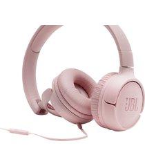 audifonos alámbricos jbl tune 500 jbl pure bass sound original - rosado