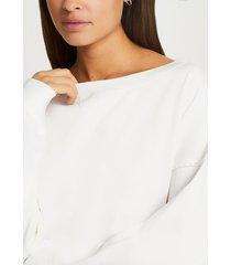 river island womens cream long sleeve sweatshirt