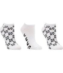 dkny sport women's 3-pk. low-cut logo socks