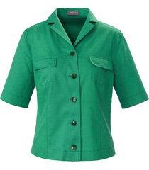 blousejasje 100% katoen korte mouwen van basler groen