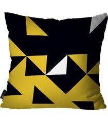 almofada abstrato mdecore amarelo 35x35