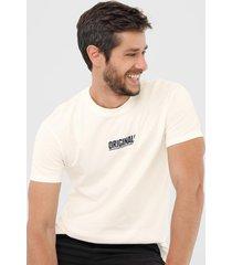 camiseta jack & jones lettering off-white