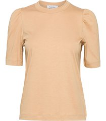 rodebjer dory t-shirts & tops short-sleeved beige rodebjer