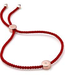 monica vinader linear solo diamond friendship bracelet in rose gold/coral at nordstrom