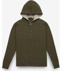 larusmiani zipper cashmere hoodie sasso fratino