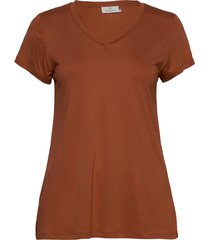anna v-neck t-shirt t-shirts & tops short-sleeved orange kaffe