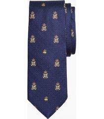 corbata fleece and anchor shield azul brooks brothers