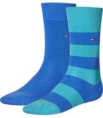 tommy hilfiger sokken 2-pak streep blue