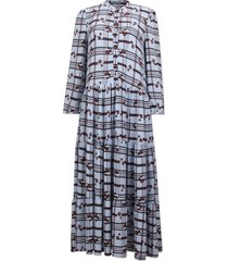 aia dress - blossom check