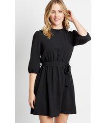 maurices womens black high ruffle neck tie waist mini dress