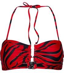 canagz bikini top bikinitop röd gestuz