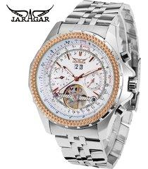 reloj /acero inoxidable/jaragar relojes mecánico-