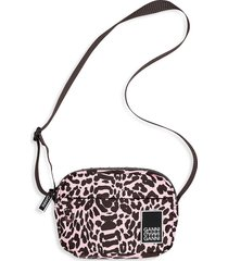 ganni women's tech printed crossbody bag - candy pink